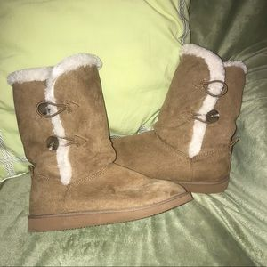 Shoes - Brown Furry Boots